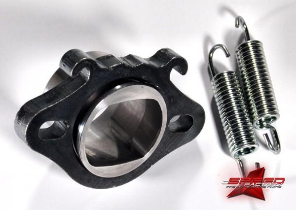 Flansch ROOST 70cc EVO, für Polini Evolution 1, 2, 3 Zylinder (Piaggio), inklusive O-Ring und Federn