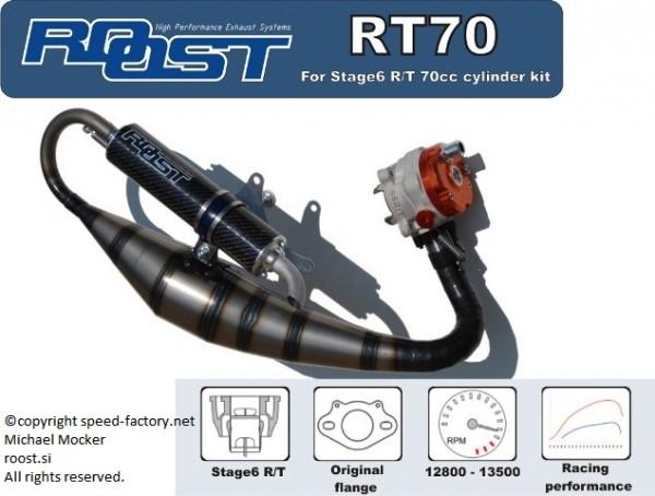 Auspuffanlage ROOST RT70, Minarelli liegend