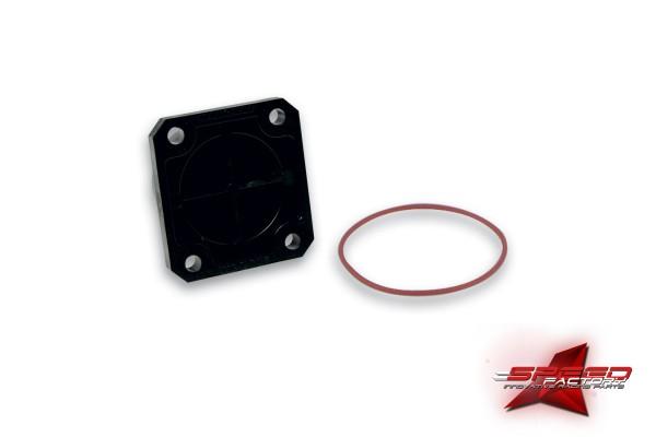 Verschlussdeckel MALOSSI, schwarz, Kunststoff, mit O-Ring, zur Stilllegung des Kompressors