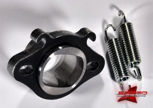 Flansch ROOST 70cc EVO, für Polini Evolution 1, 2, 3 Zylinder (Minarelli liegend), inklusive O-Ring