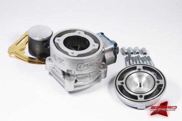 Auspuffanlage ROOST HAVOC HC-One 100cc, für Malossi MHR C-One / RC-One Motorgehäuse
