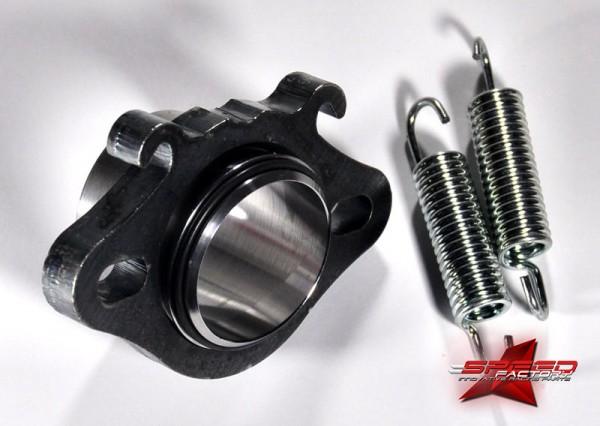 Flansch ROOST 70cc, Ø28mm, für Piaggio, inklusive O-Ringe und Federn