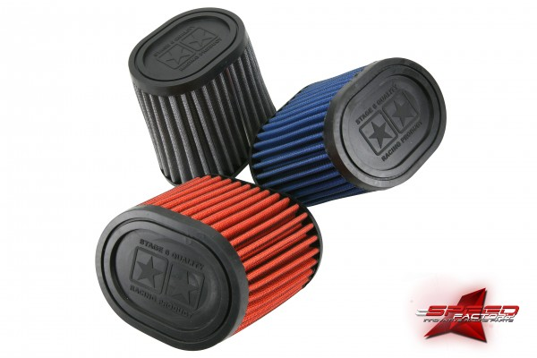 Racingluftfilter Stage6 DRAG RACE, Airbox, 44mm + 49mm Anschluss