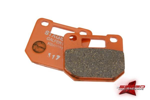 Bremsbelagsatz Stage6 R/T 4-Kolben, Semi-Metall, für Stage6 R/T 4-Kolben Bremssattel