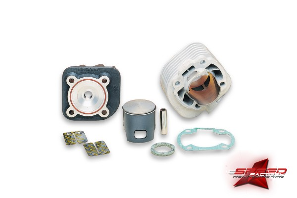 Zylinderkit MALOSSI MHR 70cc, Aluminium, Ø47,6mm, 12mm Kolbenbolzen, für Minarelli liegend AC