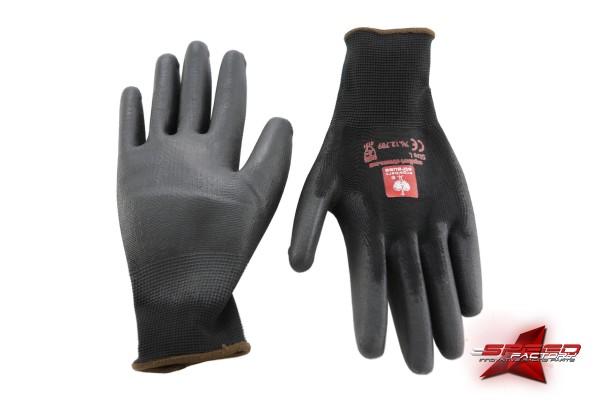 Handschuhe engelbert strauss, Mechaniker, schwarz, Unisex