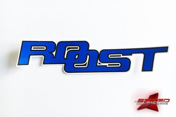 Aufkleber ROOST Sticker, Plot, blau-schwarz